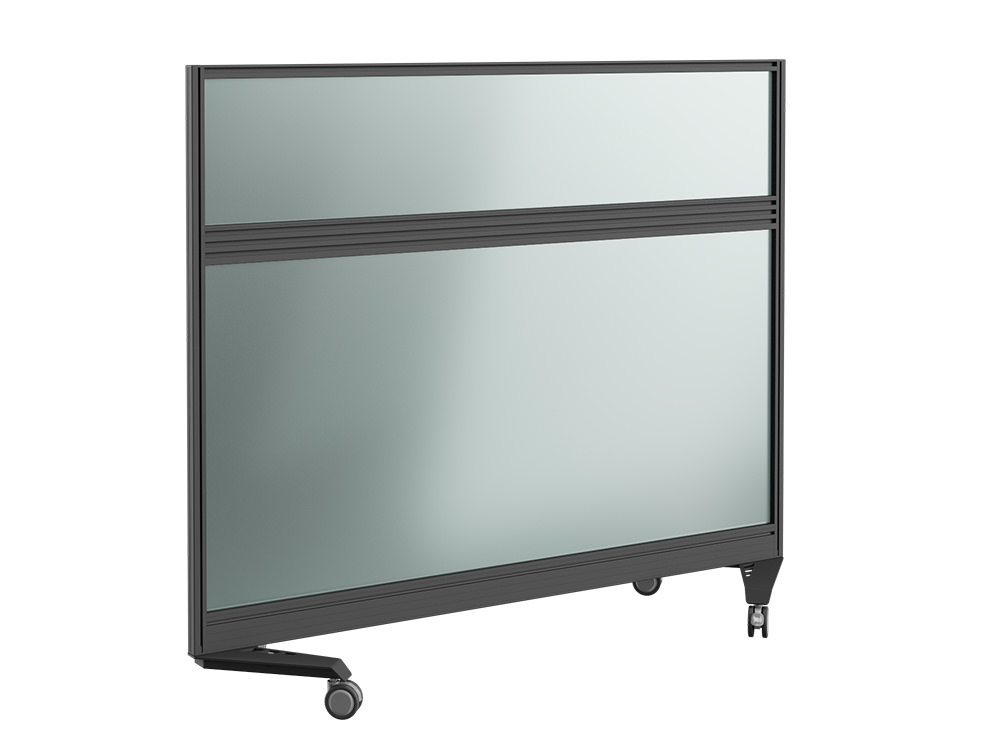 Join Up Mobile Straight Fully Glazed Screen with Toolbar - 1500 x 800mm