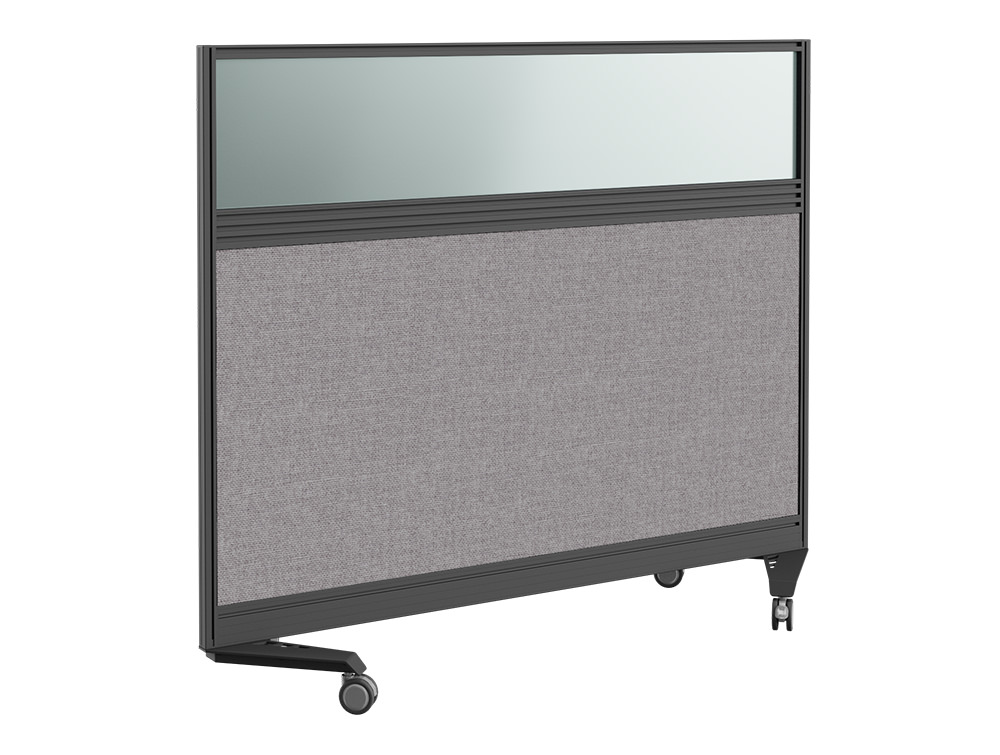 Join Up Mobile Straight Part Glazed Fabric Screen with Single Toolbar - 1800 x 800mm