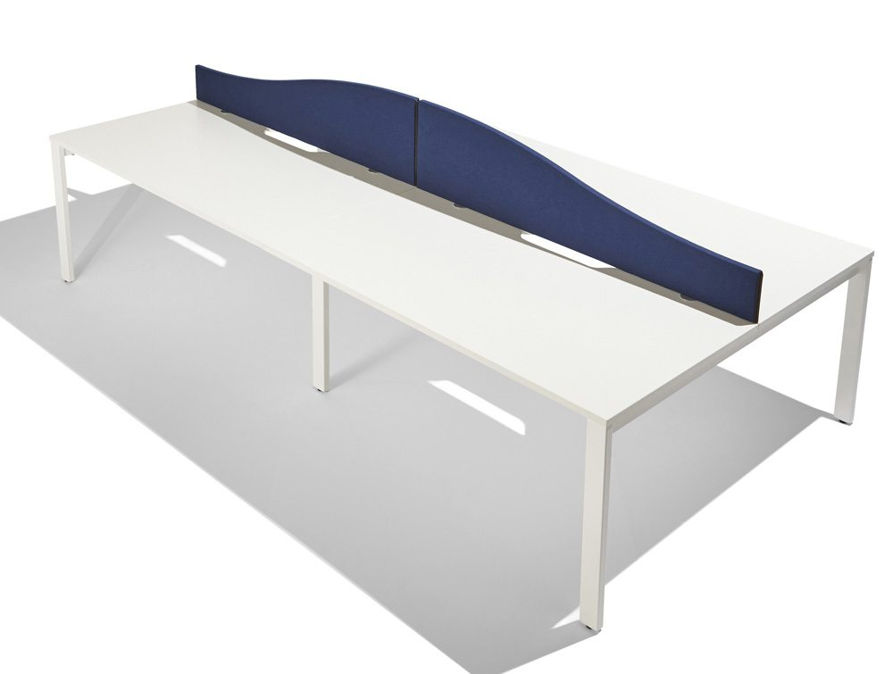 ump Wave Desk Screen in Navy Blue
