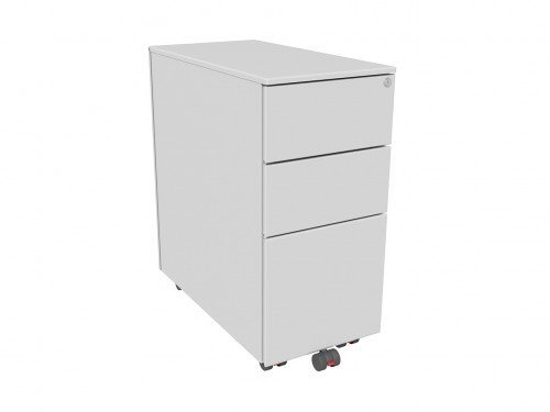 K101xs Kito X Series 3 Drawer Mobile Pedestal 301mm Wide In Silver