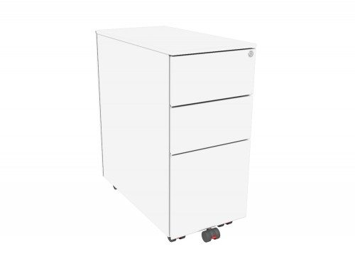K102xs Kito X Series 3 Drawer Mobile Pedestal 301mm Wide In White