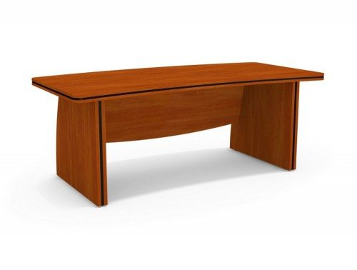 Oskar Bow Front Desk with Panel Legs