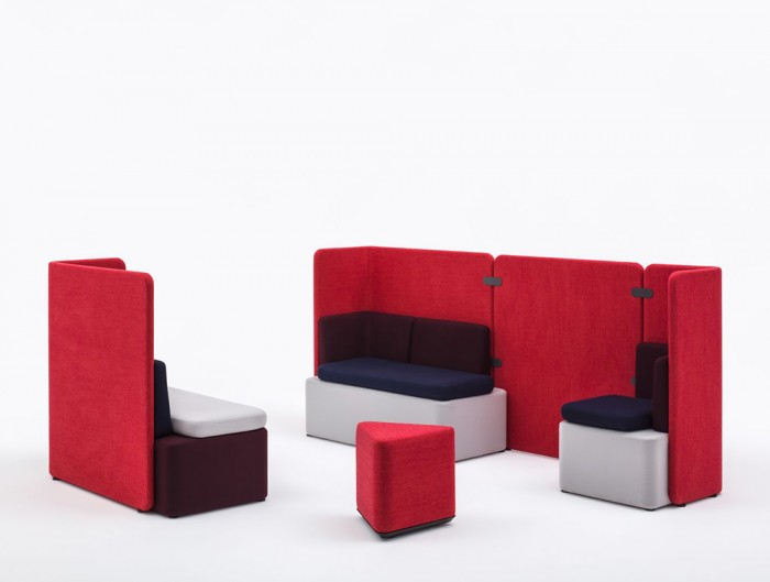 Kaiva-Modular-Large-High-Back-Sofa-with-Red-Pouf