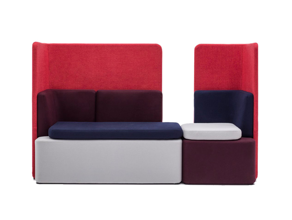 Kaiva Modular Soft Seating with Acoustic Screens