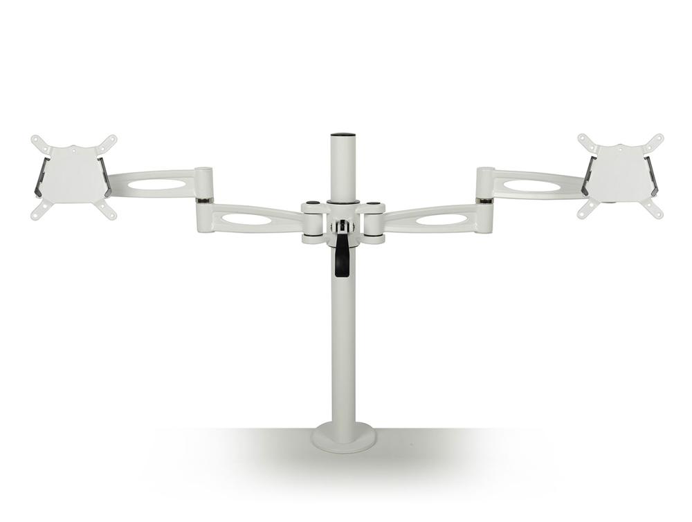 Kardo Dual Monitor Arm in White