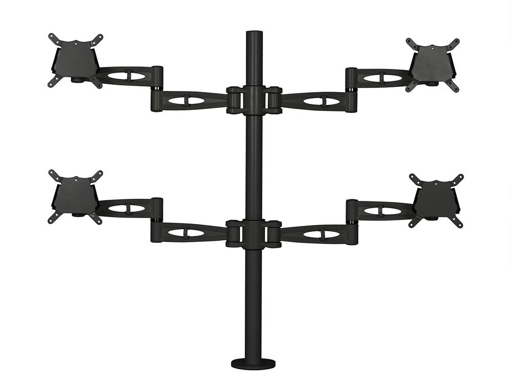 Kardo Quad Monitor Arm - Black