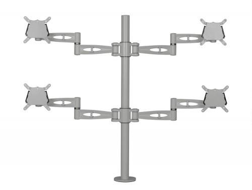 Kardo Quad Monitor Arm Silver PMA524-SV