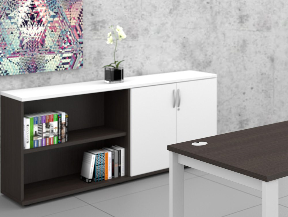 Kito Black and White Bookcase