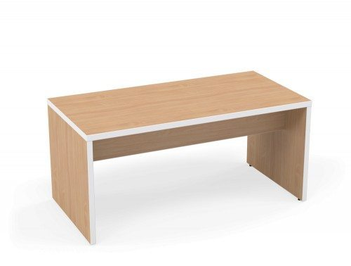Kito Canteen Bench System Low Table BE-WH-1680 Beech/White in 1600 x 800mm