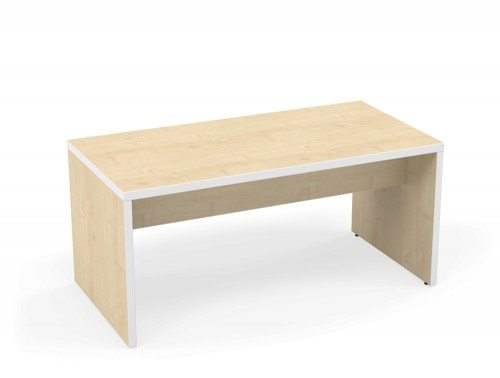 Kito Canteen Bench System Low Table MP-WH-1680 Maple/White in 1600 x 800mm