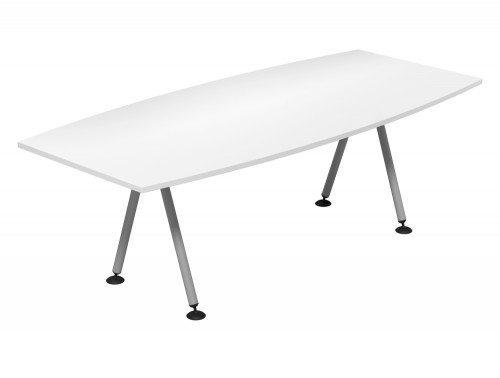 Kito Meeting Barrel Meeting Table Double A Frame Leg Base Wh Slv 2210