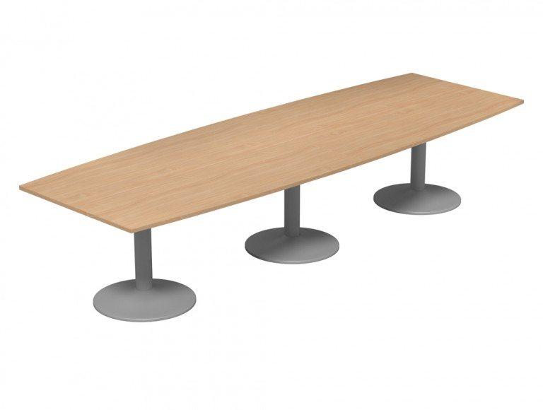 Kito Meeting Barrel Meeting Table Triple Cylinder Leg Base Be Slv 3512