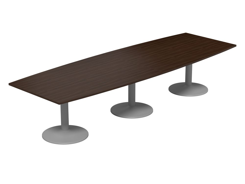 Kito Barrel Boardroom Table With Triple Trumpet Legs In Walnut
