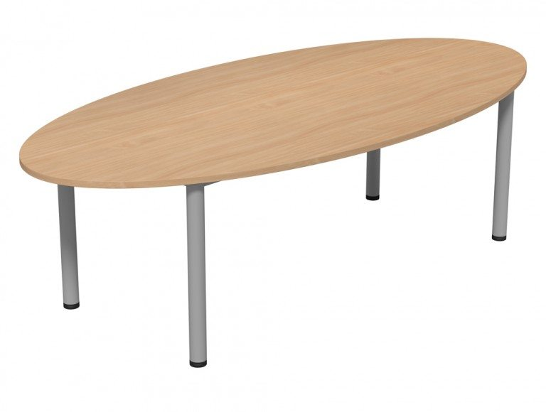 Kito Meeting Elipse Meeting Table Double Tubular Leg Base Be Slv 2512