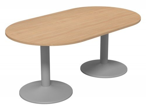 Kito Meeting Oval Meeting Table Double Cylinder Leg Base Be Slv 1810