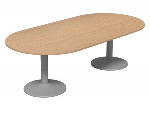 Kito Meeting Oval Meeting Table Double Cylinder Leg Base Be Slv 2412