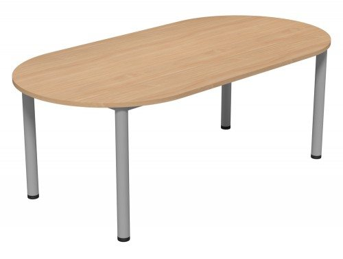 Kito Meeting Oval Meeting Table Double Tubular Leg Base Be Slv 2010