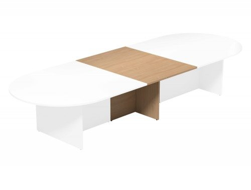 Kito Meeting Oval Meeting Table Panel Leg Base Add On Section 1000 Mm X 1400 Mm For 2 Piece Table Be