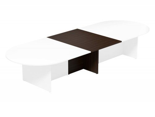 Kito Meeting Oval Meeting Table Panel Leg Base Add On Section 1000 Mm X 1400 Mm For 2 Piece Table Dw