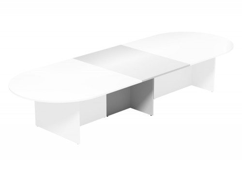 Kito Meeting Oval Meeting Table Panel Leg Base Add On Section 1000 Mm X 1400 Mm For 2 Piece Table Wh