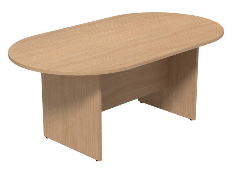 Kito Meeting Oval Meeting Table Panel Leg Base Single Piece Size 1800 Mm X 1000 Mm 2400 Mm X 1200 Mm Be 1810