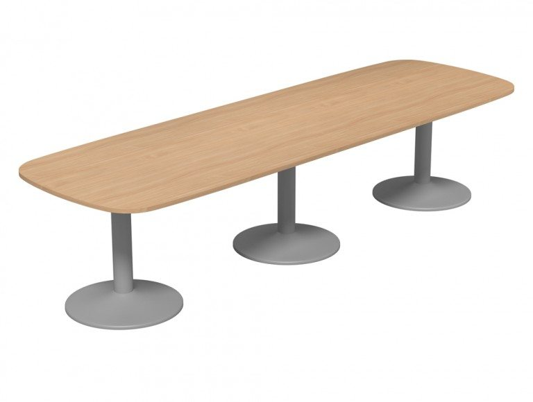 Kito Meeting Oval Meeting Table Triple Cylinder Leg Base Be Slv 3210