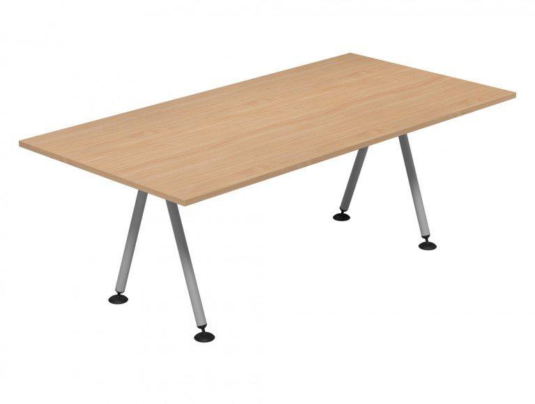 Kito Meeting Rectangular Meeting Table Double A Frame Leg Base Be Slv 2010