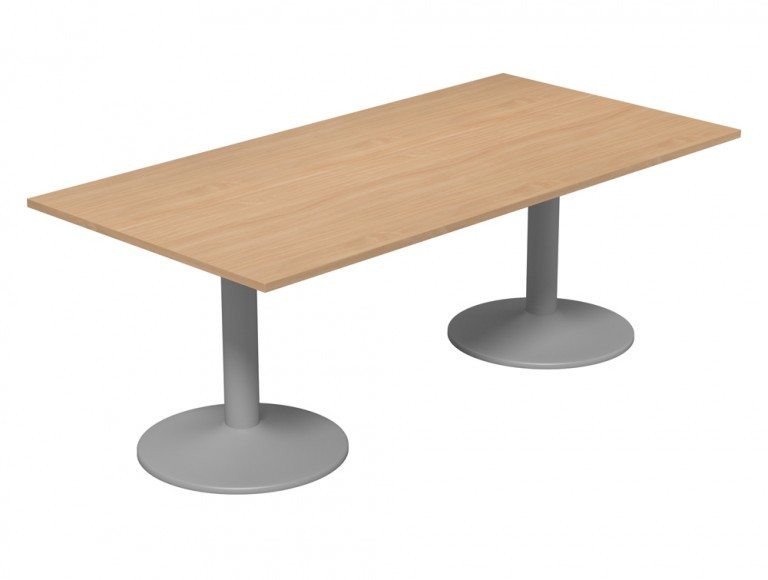 Kito Meeting Rectangular Meeting Table Double Cylinder Leg Base Be Slv 2010