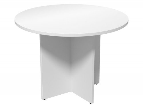 Kito Meeting Round Meeting Table Panel Leg Base Wh 1000
