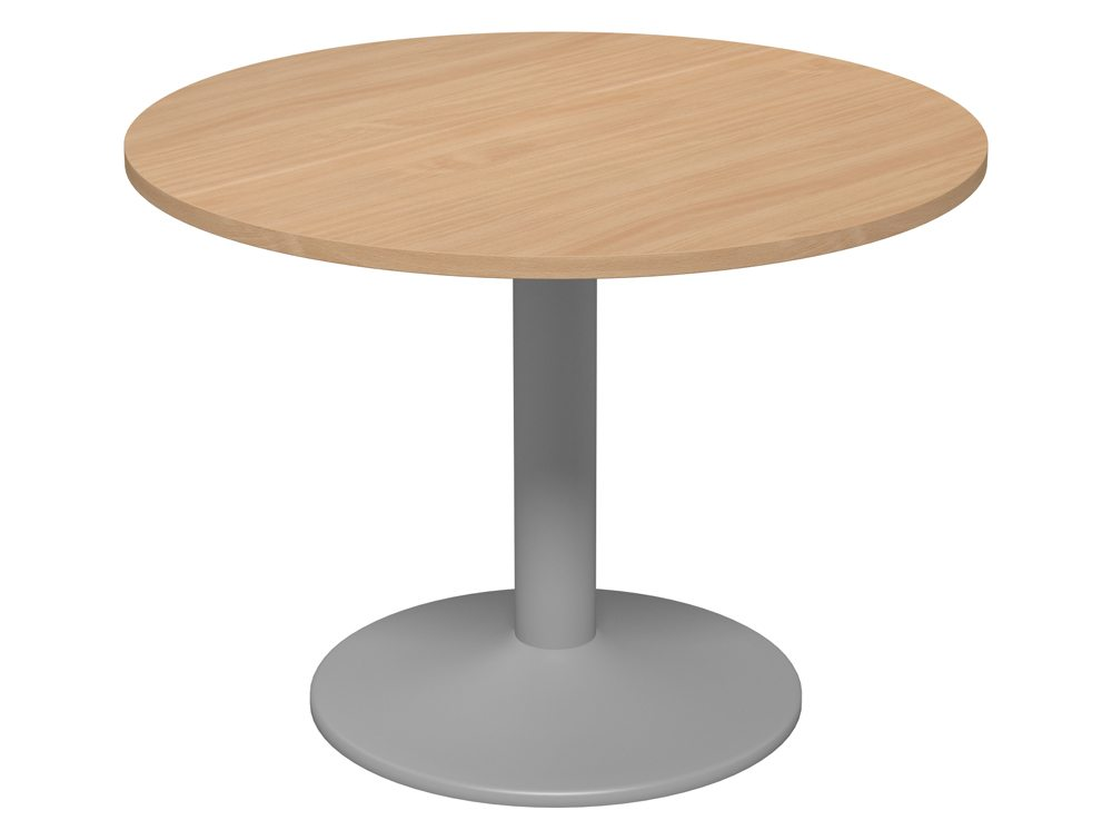 Kito Round Meeting Table With Trumpet Leg In Beech