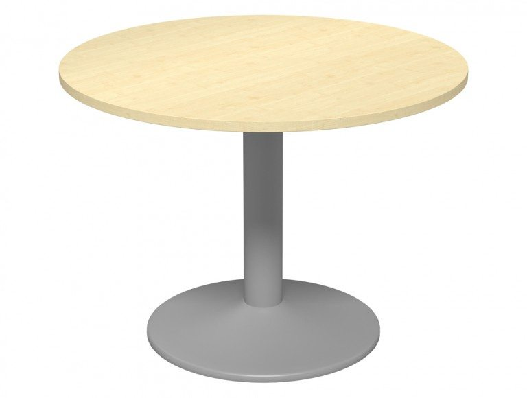 Kito Meeting Round Meeting Table Single Cylinder Leg Base 1000 Mp Slv