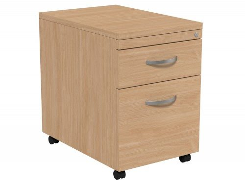 Kito Mobile Pedestal MP2-BE in Beech 2-Drawer