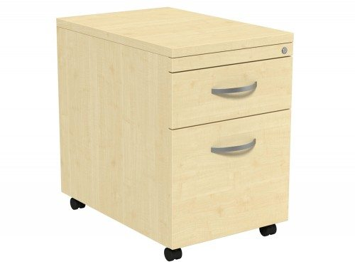 Kito Mobile Pedestal MP2-MP in Maple 2-Drawer