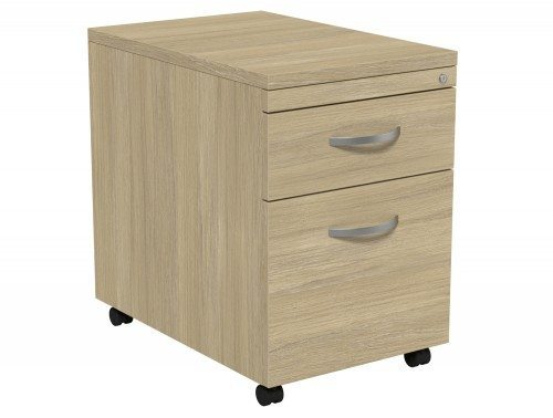Kito Mobile Pedestal MP2-UO in Urban Oak 2-Drawer