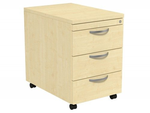 Kito Mobile Pedestal MP3-MP in Maple 3-Drawer