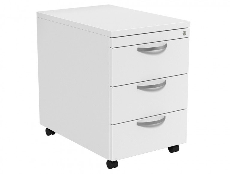Kito Mobile Pedestal MP3-WH in White 3-Drawer