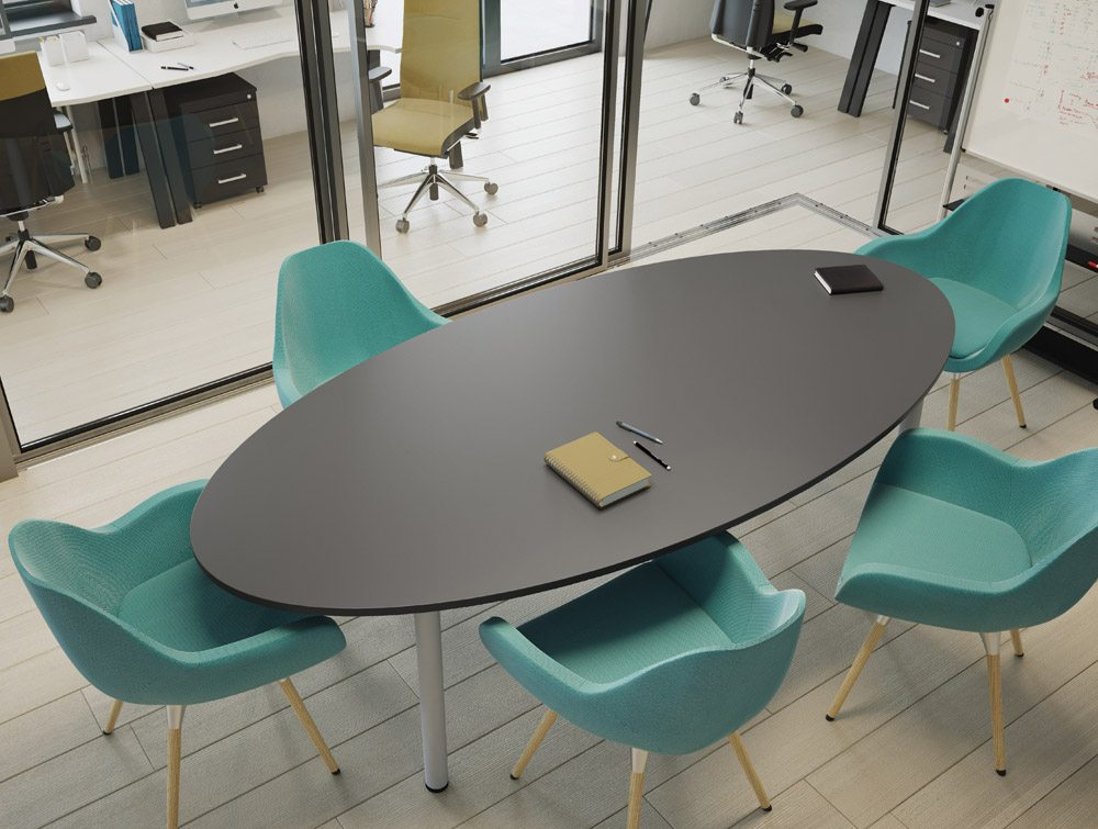 Outstanding Kito Round Meeting Table With Trumpet Leg In Beech Home Interior And Landscaping Eliaenasavecom