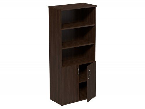 Kito Part Closed Storage DW-1850 in Dark Walnut 5-Level