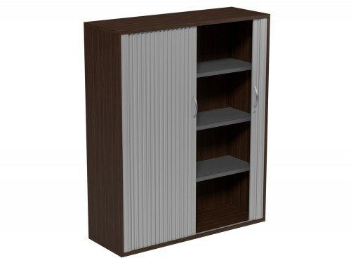 Kito Tambour Unit 1490-SLV-DW in Dark Walnut 4-Level