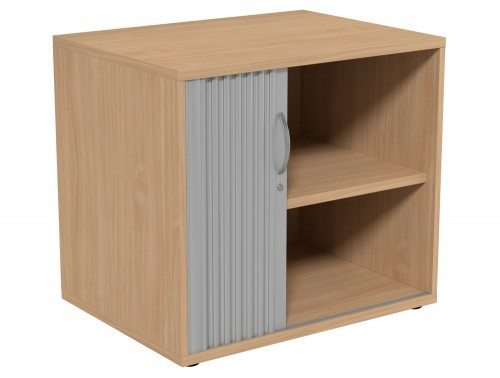 Kito Tambour Unit 725-SLV-BE in Beech Desk High - 2-Level