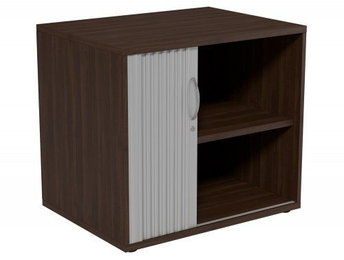 Kito Tambour Unit 725-SLV-DW in Dark Walnut Desk High - 2-Level
