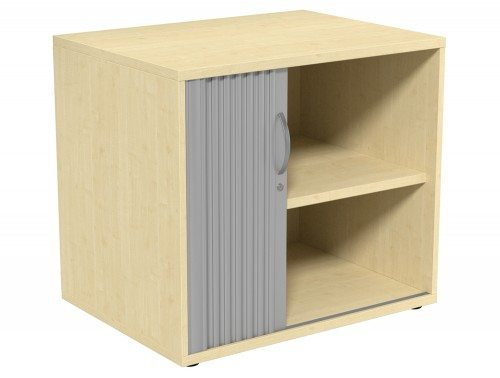 Kito Tambour Unit 725-SLV-MP in Maple Desk High - 2-Level
