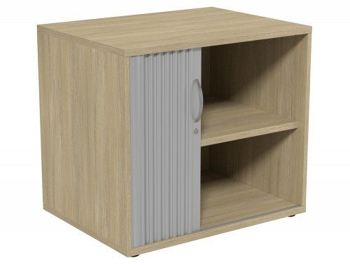 Kito Tambour Unit 725-SLV-UO in Urban Oak Desk High - 2-Level