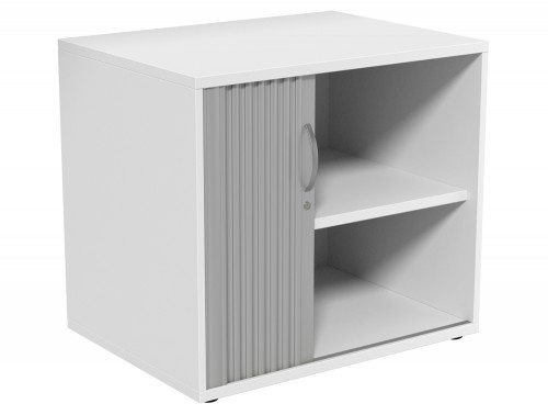 Kito Tambour Unit 725-SLV-WH in White Desk High - 2-Level
