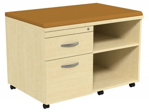 Kito Underdesk Mobile Unit with Big Cushion MP-EV-18-L in Maple