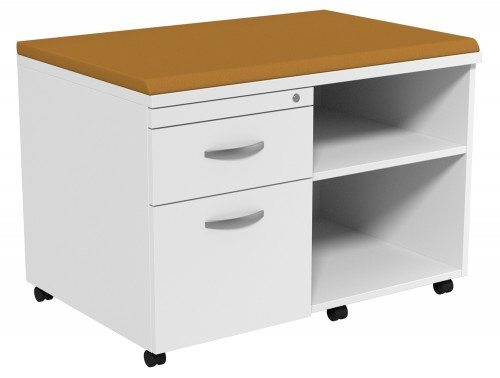 Kito Underdesk Mobile Unit with Big Cushion WH-EV-18-L in White