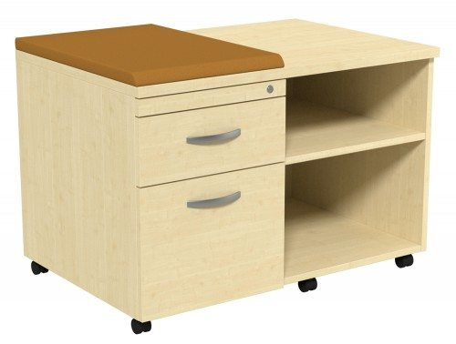 Kito Underdesk Mobile Unit with Small Cushion MP-EV-18-L in Maple