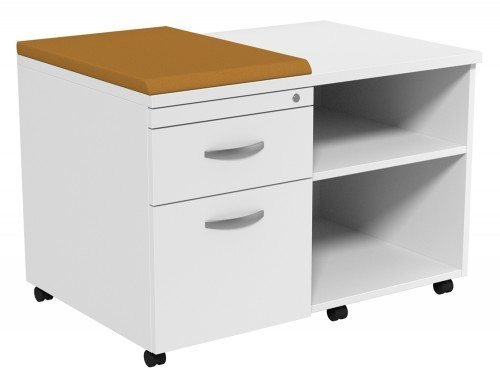 Kito Underdesk Mobile Unit with Small Cushion WH-EV-18-L in White