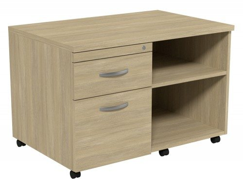 Kito Underdesk Mobile Unit without Cushion UO-L in Urban Oak