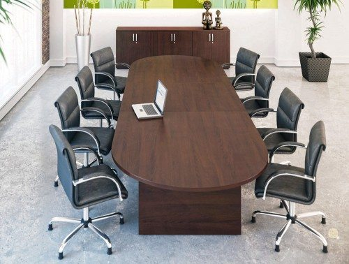 Kito Boardroom Table And On Leather Chairs Copy